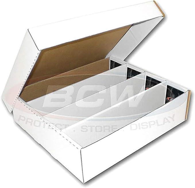 Paquete De 25 Max protección 2-Row cajas de almacenaje de zapatos de tarjetas de béisbol 1600ct Caja