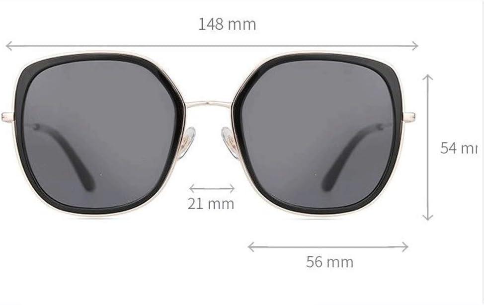 サングラス女性209新しいポリゴンフレームファッション野生のオプション偏光サングラス運転サングラス (Color : 黒) 黒