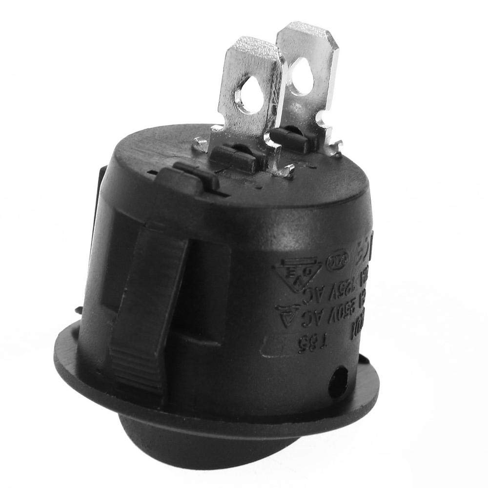 A Clarashop 250 V Accesorios de Coche 12 5 interruptores basculantes de 2 Pines 4 T90//55 para Coche electr/ónico