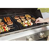 "GardenHome Outdoor Heavy Duty Grill Mat, Nonstick BBQ Grilling Mats, 15.75 L x 13"" W, Set of 2"