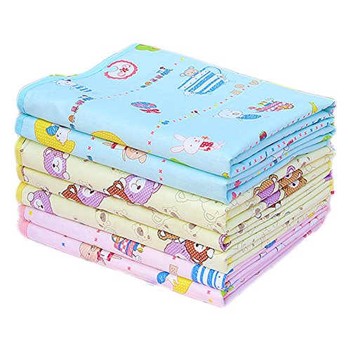 Jiquan Reusable Crib Mattress Pad Bed Wetting Sheet Protector for Baby Boys & Girls, Leak-Proof, Breathable, Super Soft, Portable,1 PCS, 13