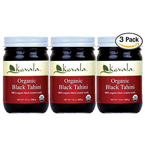 Kevala Organic Black Sesame Tahini 12oz (3 Pack) by Kevala