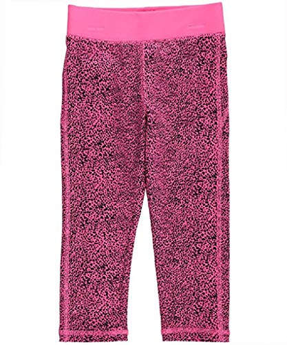 Oshkosh Capris - OshKosh B'Gosh Little Girls' Althletic Active Capri- Hot Pink Leopard- 5 Kids