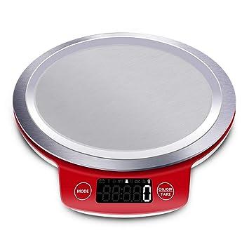 ZHANGYUGE Báscula de Cocina Digital LCD gram balanza precisa electrónica Metal Mini cocinar Alimentos medir Herramientas Palet Comida,5000GX1g: Amazon.es: ...