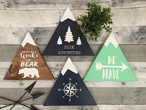 - rustic nursery décor, woodland theme nursery, nursery signs, deer antler décor, arrow décor YOU PICK QUOTE