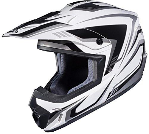 HJC CS-MX II Edge Off-Road Motorcycle Helmet White Grey Large - Edge Motorcycle Helmet
