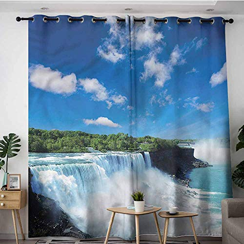AndyTours Doorway Curtains,Waterfall Niagara Falls in The USA,W72x108L