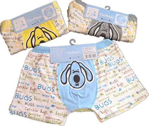 kulala little boys big ear dog design cotton underwear 2 pack (3-4T) from kulala
