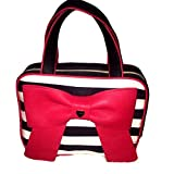 Betsey Johnson Weekender Cosmetic Make Up Bag Bow Stripes
