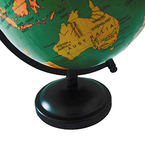 Handcrafted world map globe 6 plastic ball 95 tall standing green handcrafted world map globe 6 plastic ball 95 tall standing green home dcor general knowledge office table topper gift item gumiabroncs Images