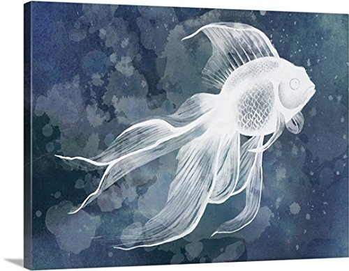 Grace Popp Gallery-Wrapped Canvas entitled Indigo Fish II by greatBIGcanvas