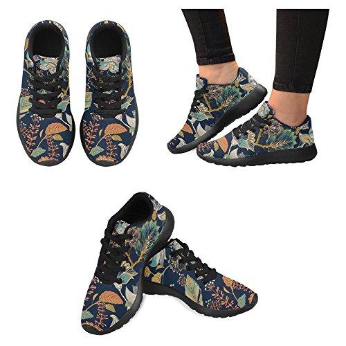 Interestprint Femmes Jogging Running Sneaker Léger Aller Facile À Pied Casual Confort Chaussures De Course Beau Vintage Floral Paisley Motif Multi 4