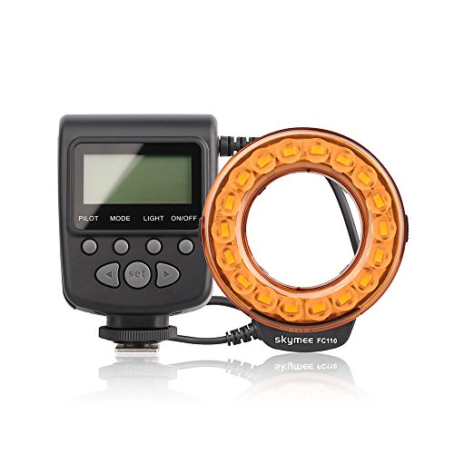 Skymee FC-110 LED Macro Ring Flash Universal LED Speedlite for Canon/Nikon/Panasonic Lumix/Olympus/Penta/Leica Cameras by Skymee