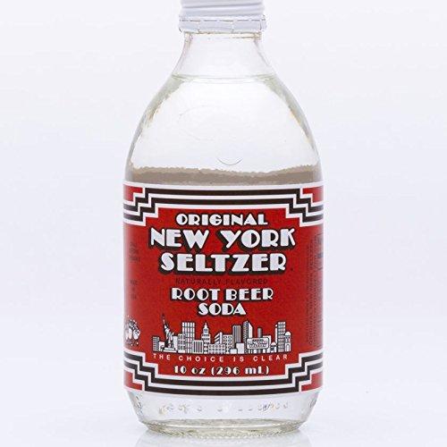 Original New York Seltzer Root Beer Soda, 10-Ounce Glass Bottles (Pack of 12)