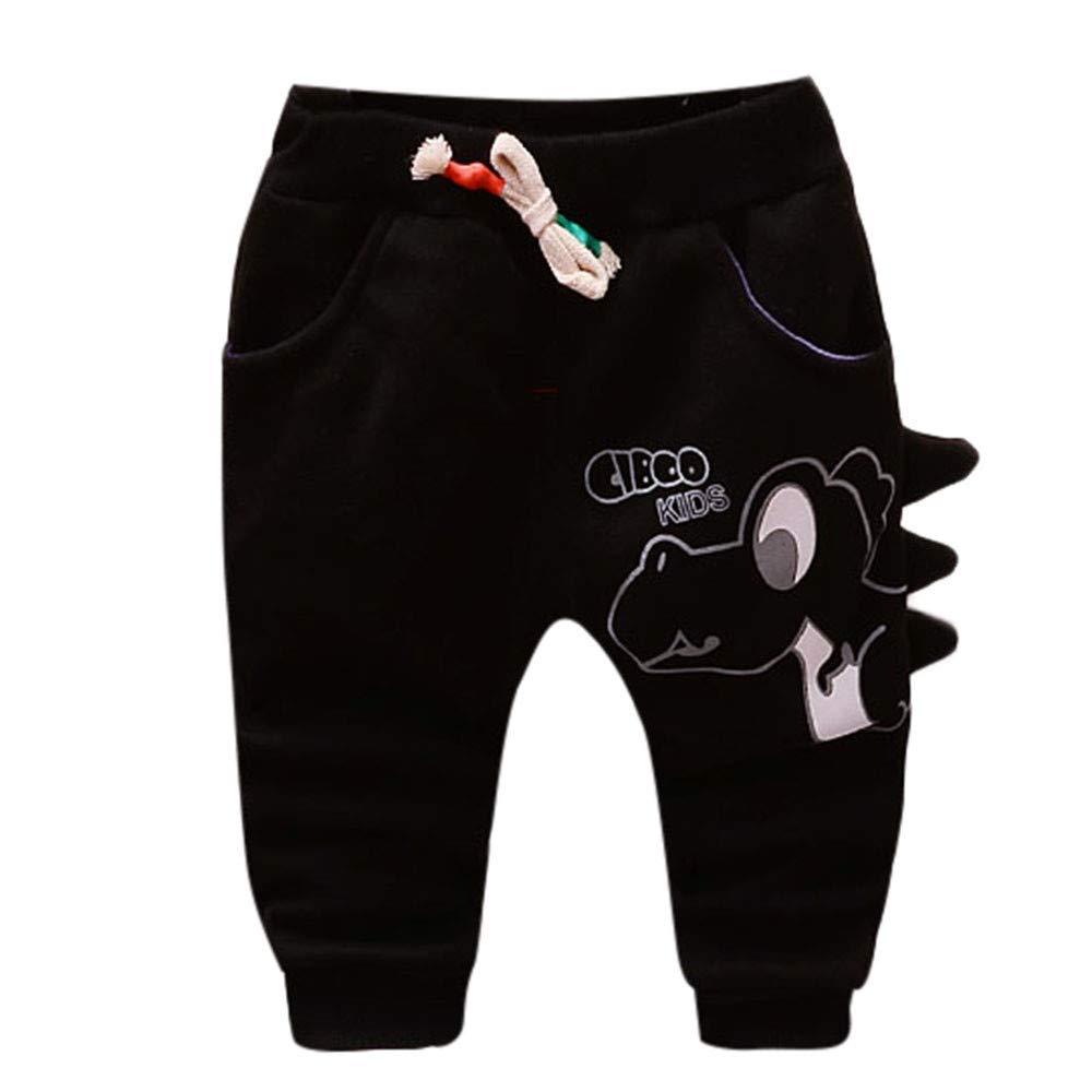 squarex Baby Pants, Girls Boys Cartoon Dinosaur Letter Printed Warm Pants Long Trousers