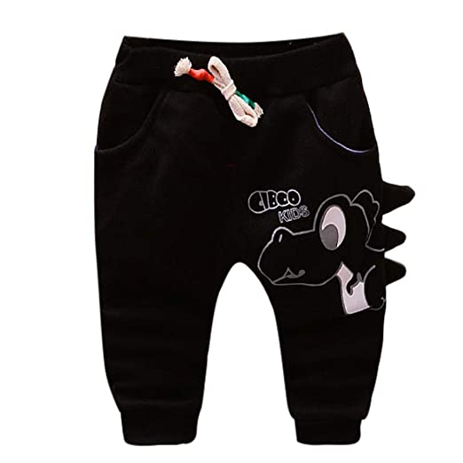 ff0c2b76808 Image Unavailable. Image not available for. Color  Keliay Bargain Baby  Girls Boys Kid Cartoon Dinosaur Letter Printed Warm Pants ...
