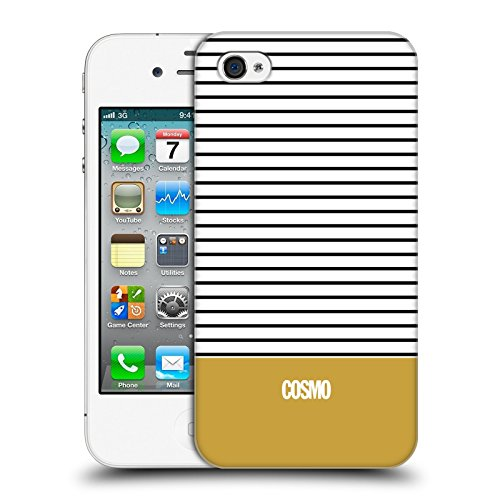 Official Cosmopolitan Gold 1 Stripes Collection Hard Back Case for Apple iPhone 4 / 4S