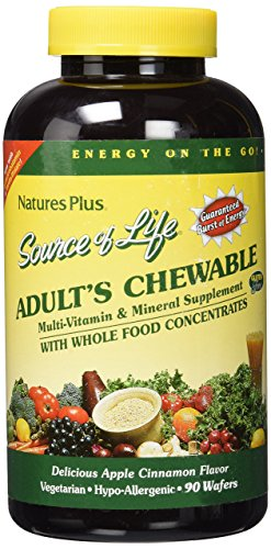 Nature's Plus Source of Life Adult Chewable Tablets, 90 Count Adult Chewable Multivitamin