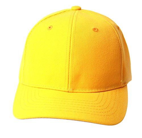 TOP HEADWEAR TopHeadwear Solid Yellow Adjustable Hat -