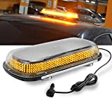 "Roof Top Mini Light Bar 17"" 400 LED Amber Yellow Extreme High Intensity Construction Emergency Warning Strobe Light Bar Rooftop Low Profile Law Enforcement Hazard Flashing for Tow Truck Vehicle"