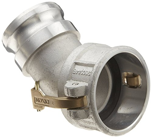 Dixon 400DA-45AL Aluminum Cam and Groove Hose Fitting, 45 Degree Elbow, 4'' Plug x 4'' Socket by Dixon Valve & Coupling