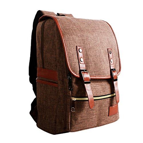 De Mochilas Mujeres Bolsa Ocio Vintage de Mochila al Mochila Lona Aire Backpack Hombro Laptop Viaje Escolares Café Libre de Hombres ZKOO Mochila nq07CRF0