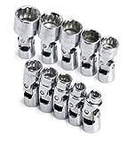SK 1336 10 Piece 1/4-Inch Drive 12 Point Flex 5-Millimeter to 14-Millimeter Socket Set