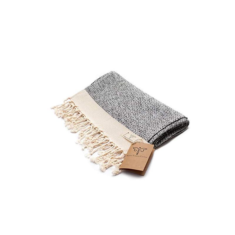 Smyrna Original Turkish Hand Towels Set of 2 | 100% Cotton, 16 x 40 Inches | Decorative Bathroom Peshtemal Towel for…