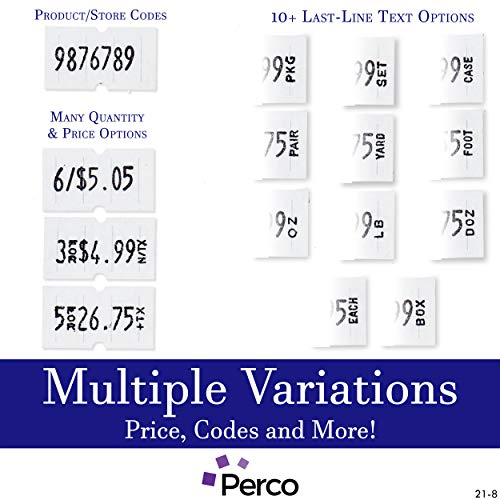 Perco 1 Line Price Gun - Includes 1 Line Pricing Gun, 1,000 White Labels, and Pre-Loaded Ink Roll by Perco (Image #1)