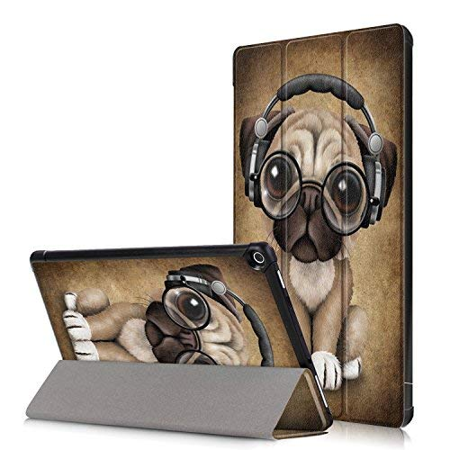 Anvas Utral Slim Lightweight Shell Standing Case for Amazon All-New Fire HD 10 10.1 Inch 2017 Model Smart Cover with Auto Wake/Sleep Feature,Cute Dog (Kindle Fire Dog Case)
