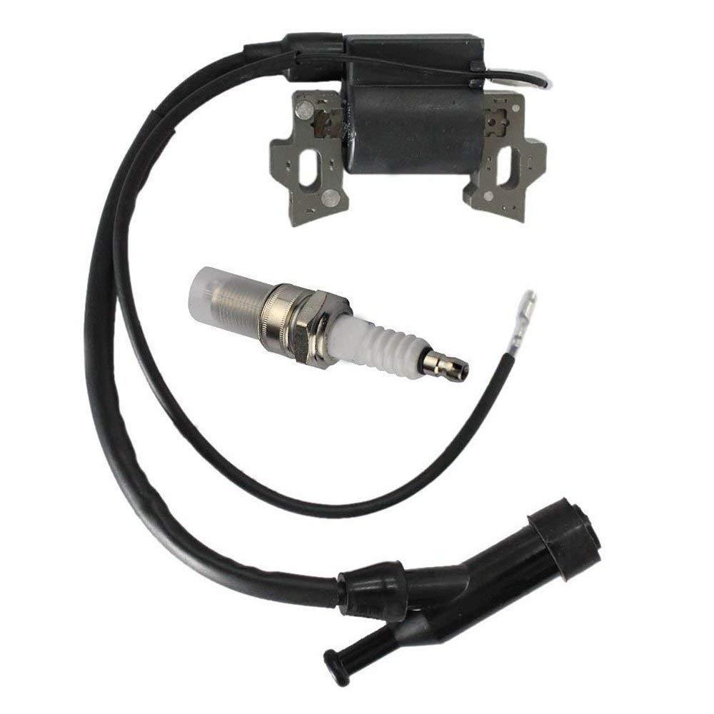 Amhousjeoy Ignition Coil /& Spark Plug Fits Honda Gx110 Gx120 Gx140 Gx160 Gx200 5.5hp 6.5hp Generator Lawn Mover Engine