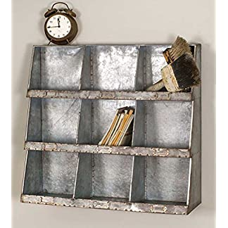 Industrial Style Galvanized Wall Cubbies