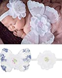 Newborn Baby White Butterfly Angel Wings with