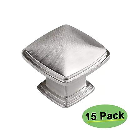 Amazon.com: Homdiy - Pomos de níquel cepillado para cajones ...