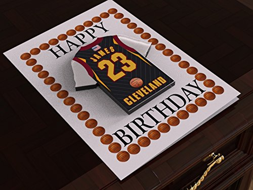9221b9fa9 NBA BASKETBALL JERSEY THEMED GREETING CARDS - PERSONALISED BIRTHDAY ...