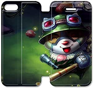 Fashion Style League of Legends Cottontail Teemo Phone case Thin Slim Flip Leather Case Cover For iPhone 5 5s OOL2965985