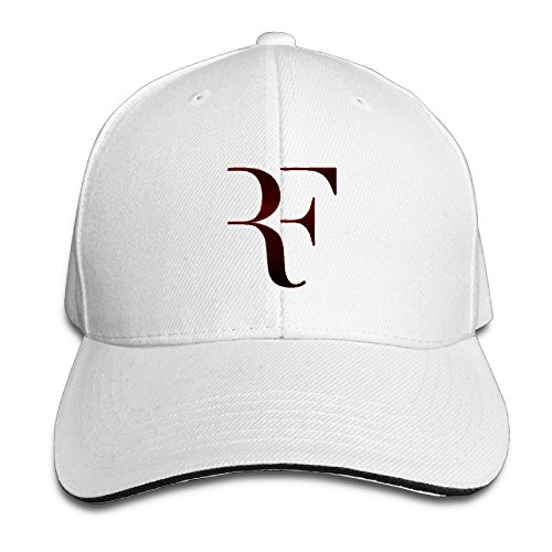 Ervyn Fashion Sandwich Baseball Cap Adjustable Curved Visor Hat White