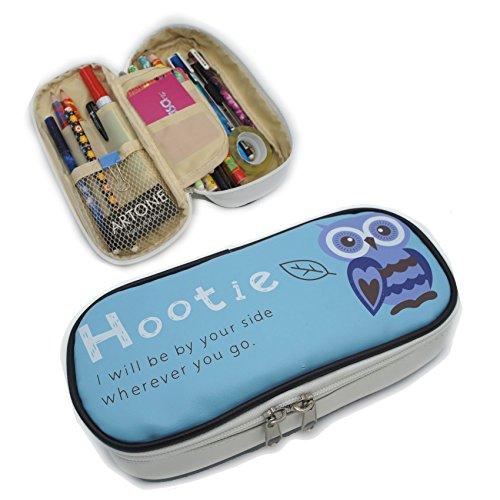 artone-hootie-owl-big-capacity-pen-case-stationery-pounch-cosmetic-bag-blue
