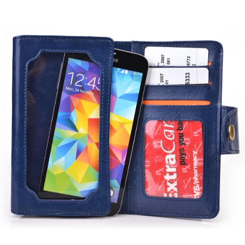 Exxist® Universal Smartphone Cover Case Wallet Billfold w...