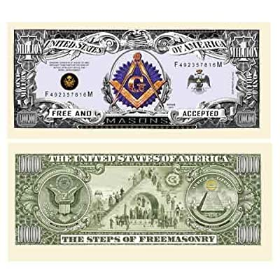 FREEMASON - MASONIC MILLION DOLLAR BILL (5 bills): Toys & Games