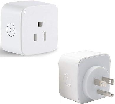 teetai 2 Pack WiFi enchufe inteligente Mini Smart Outlet funciona ...