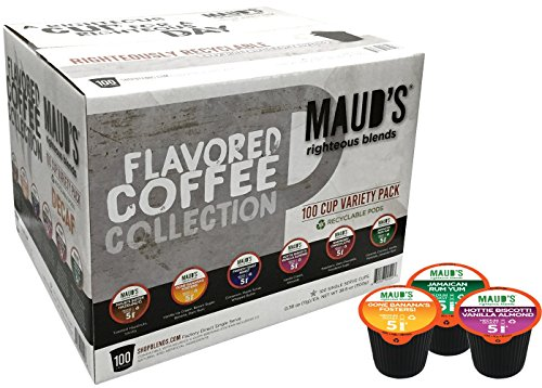 Drink Mix Cake (Maud's Gourmet Coffee Pods - Decaf Flavored Collection, 100-Count Single Serve Coffee Pods - Richly Satisfying Premium Arabica Beans, California-Roasted - Kcup Compatible, Including 2.0)