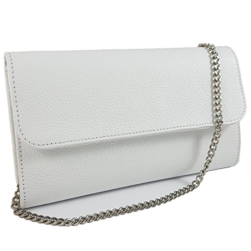 Weiß Pochette Italy Freyday Made in femme pour qwACpAF
