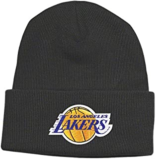 0102681b9d2cb Amazon.com   adidas NBA Los Angeles Lakers Black Knit Beanie Cap ...