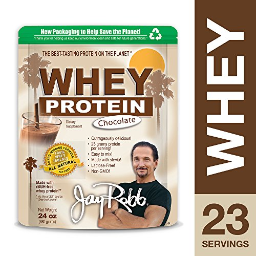 Jay Robb - Grass-Fed Whey Protein Isolate Powder, Outrageously Delicious, Chocolate, 23 Servings (24 - Chocolate Whey Shake Protein
