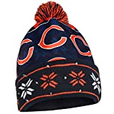 FOCO Chicago Bears Exclusive Busy Block Printed Light Up Beanie