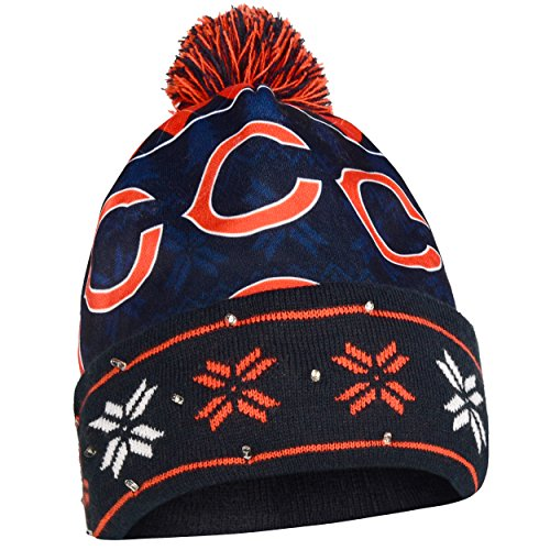 - Chicago Bears Exclusive Busy Block Printed Light Up Beanie