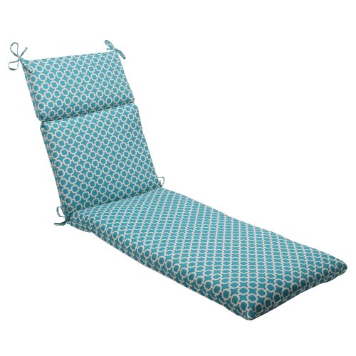 Pillow Perfect Indoor/Outdoor Hockley Chaise Lounge Cushion, Teal (Cheap Cushions Lounge Chaise)