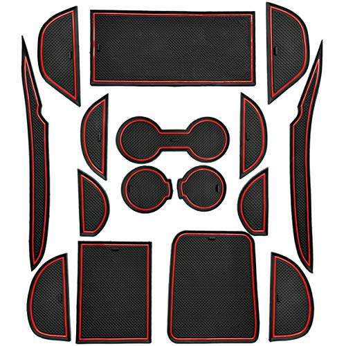 artment Liner Accessories Mats Gate Slot Center Console Mat Cup Pads for 2018 217 2016 Toyota Prius Two Eco Three Touring Four Touring Plus Premium Technology Advanced Base 16P ()