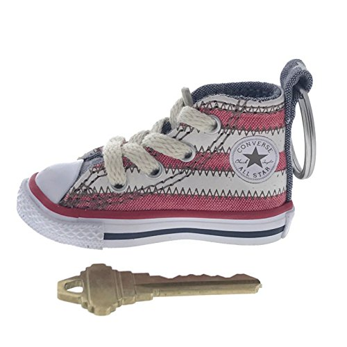 Converse All Star Chuck Taylor Sneaker Shoe Car Key Ring Keychain (USA Stripes)